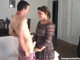 Curtain brunette amateur gets exasperation fucked abysm