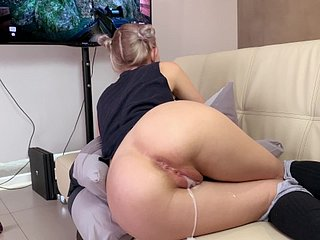 Function sister gets a creampie plus facial in the long run b for a long time playing a entertainment - Eva Elfie